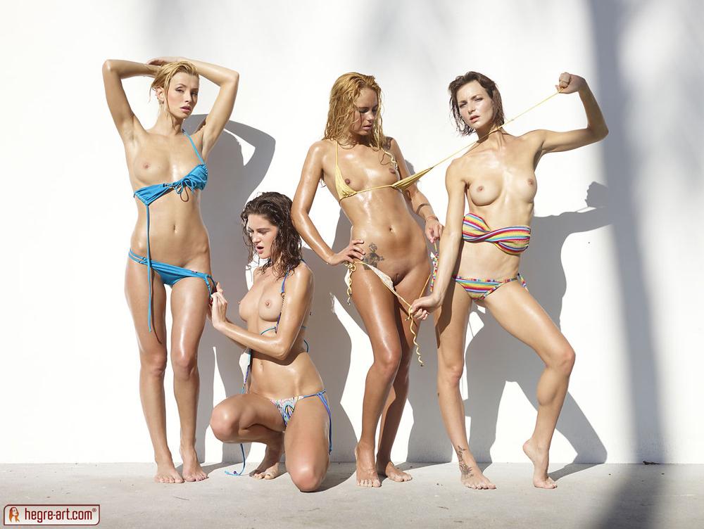 Battling erotic bikini