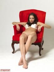 Elvira Red Chair Part1 Hegre art beauties 05