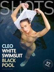 Cleo White Swimsuit Black Pool- hegre art hd cover